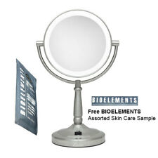 Zadro LEDMV410 Ultra Bright LED Satin Nickel Vanity Mirror w/ Bioelements Sample