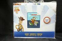"Disney Pixar Toy Story 4 ""Takin' Action"" Sherpa Throw Blanket 50""x60"""