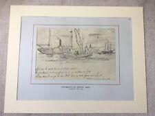 Vintage Print Buenos Aires Port Argentina Argentinian Paddle Steamer Ships Liner