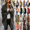 Womens Batwing Sleeve Knitted Sweater Oversized Loose Cardigan Outwear Coat Tops