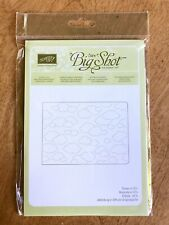 Stampin' Up Sizzix Big Shot  Embossing Folder Cloudy Day
