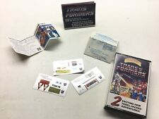 Vintage Transformers Lot (7) Stickers Instructions Advertising Car-Tune Cassette