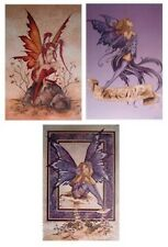 Amy Brown ~ Mischief ~ 3 Poster Set ~ 24x36 Fantasy Art Fairies New/Rolled Fairy
