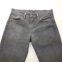 Levi's 511 Mens Jeans W29 L32 Grey Slim Fit Straight Mid Rise
