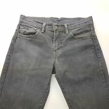 Levi's 511 Mens Jeans W29 L32 Grey Slim Fit Straight Mid Rise