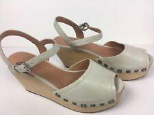 Sigerson Morrison Womens Clogs Wedge Studs Platform Ankle Buckles Shoes Size 9 B