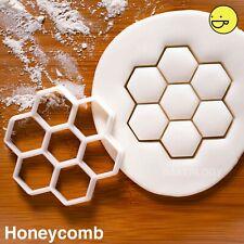 Honeycomb cookie cutter   hexagon geometry honey bee beehive structure biscuit