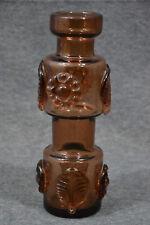 Glas, Vase, bräunlich gefärbt, Höhe 24 cm, Durchmesser 8 cm, wahrsch. Murano