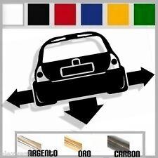 adesivo sticker RENAULT CLIO 2 tuning down-out dub prespaziato,auto