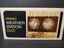 NIB SPRINGFIELD WEATHER STATION DUO THERMOMETER HUMIDITY METER NAUTICAL STYLE