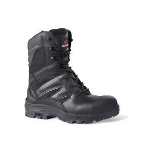 Rock Fall RF4500 Titanium S3 black waterproof composite side zip safety boot