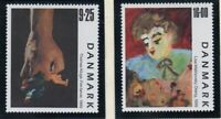 Denmark Sc 1160-61 1999 Contemporary Paintings stamp set mint NH
