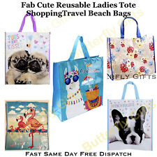 Reusable Shopping Bag Pug French Bulldog Llama Tote Womens Ladies shopper Bags