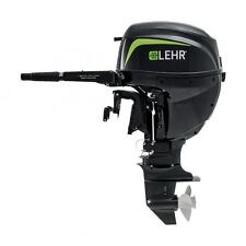 LEHR 15 hp Propane Powered Outboard Engine SHORT Shaft Tiller Manual Start NEW