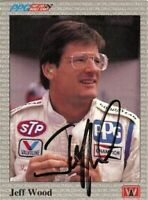 Jeff Wood 1991 All World Indy Signed Card Auto
