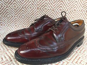 Vintage Florsheim Imperial Men Shoes 93605  Shell Cordovan Longwing SZ US 10.5D