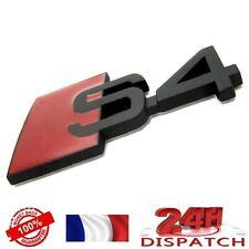 Logo S4 NOIR METAL pour Audi A4 emblem sigle badge sticker aufkleber adesivoLogo