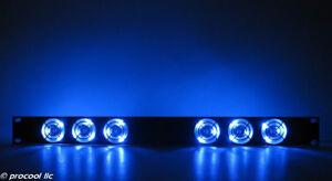 PROCOOL SL640B-E 1U Rack Mount Fan Blue LED fans DJ, Amp and Equipment racks