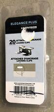 20 Pc Decking Hardware Elegance Plus Leadvision Locking Clips Composite Wood New