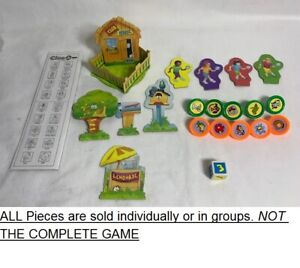 PICK-A-PART 1995 CLUE JR. game replacement parts pieces pad movers die holders