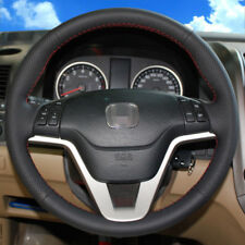 BANNIS Black Leather Steering Wheel Cover Wrap for Honda CRV 2007-2011