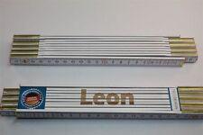 Zollstock mit Namen      LEON     Lasergravur 2 Meter Handwerkerqualität