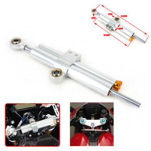 CNC 6061-T6 Aluminum Steering Damper Linear Stabilizer Universal For Motorcycle