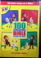 Cedarmont Kids 100 Sing-Along Bible Songs For Kids 3 NEW Kids Christian DVDs