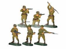 BRITAINS SUPER DEETAIL Japanese Toy Soldiers Set 6 Painted Plastic FREE SHIP