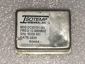ISOTEMP OCXO131-103 OCXO 13.000MHz sinewave +12V EFC