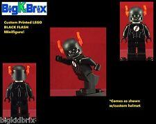 BLACK FLASH DC Custom Printed LEGO Minifigure Minifig NO DECALS USED!