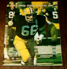 Bishop's Charities Green Bay Packers vs New York Giants August 9, 1969 Program