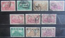 German Reich 1920 Collection of 10 Used (1 Bpp Tested)