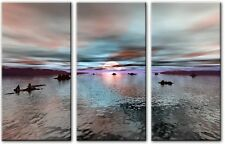 3 Panel Total Size 120x80cm ABSTRACT  ART CANVAS  DIGITAL FROZEN Blue