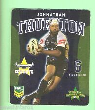 TIP TOP NRL 2013 RUGBY LEAGUE FOOTY SUPERSTARS CARD #7  JOHNATHAN THURSTON