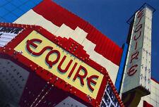 Esquire Theater Art Deco Sign Hand Colored Photo vintage movie decor Detroit