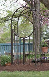 Panacea Arbor Arch With Gate 89096 Bronze.