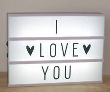 A4 LightBox Light Up Letter Box LED Wedding Party Valentines Retro DIY Messages