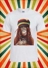 Bob Marley Raggie Hat Funny Monkey Men Women Vest Tank Top Unisex T Shirt 1576