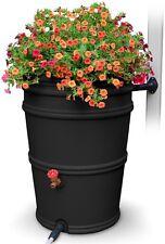 45 Gallon Black Rain Barrel Diverter Downspout Water Collector Garden Spigot NEW