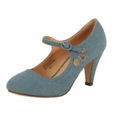 Chase & Chloe Women's Kimmy-21 Regular |Mary Jane | Mid Heel Shoes,7 B(M) 7 M US