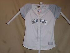 NEW YORK YANKEES Majestic  sewn FASHION JERSEY  Womens Large  size 14-16  NWT w