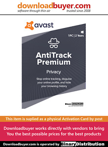 Avast AntiTrack 2021 - 1 PC 2 Years [Activation Card]