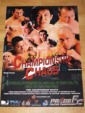 Pride FC 17 Poster - Nogueira Wanderlei Silva Sakuraba Dan Henderson Gracie UFC