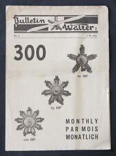 Bulletin 1929 MOTEURS WALTER biplan avion aviation