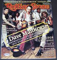 RARE FULL SIGNATURE! Dave Matthews Signed Autographed Photo Magazine PSA COA!