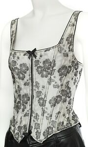 Womens Valentino Vintage Corset Bustier Floral Prints 1990s Iconic Top Size S