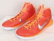 $140 Mens NIKE 2014 HYPERDUNK Basketball Shoes 653483 808 ~ ORANGE WHITE  sz 18