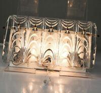 Wand Leuchte Kristall Glas Lüsterbehang Lampe Kinkeldey Bakalowits Design 60er