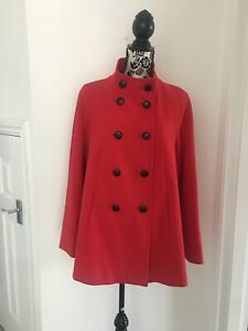 Gorgeous M & S Swing Coat/jacket, Lined, Size 14,great Condition